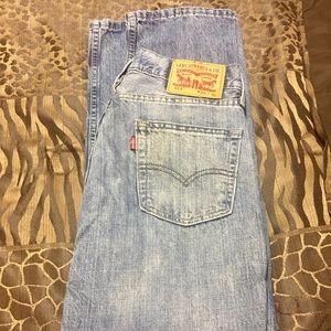 Men's Levi straight leg blue jeans